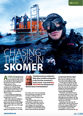 Skomer Island feature for DIVER magazine