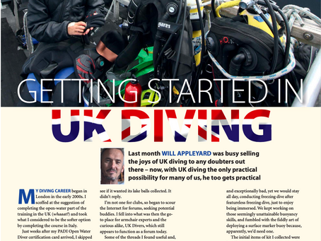 Dive-stay-cation : a duo of Diver magazine features