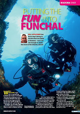 Madeira, a feature for DIVER magazine