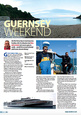 Guernsey, a feature for DIVER magazine