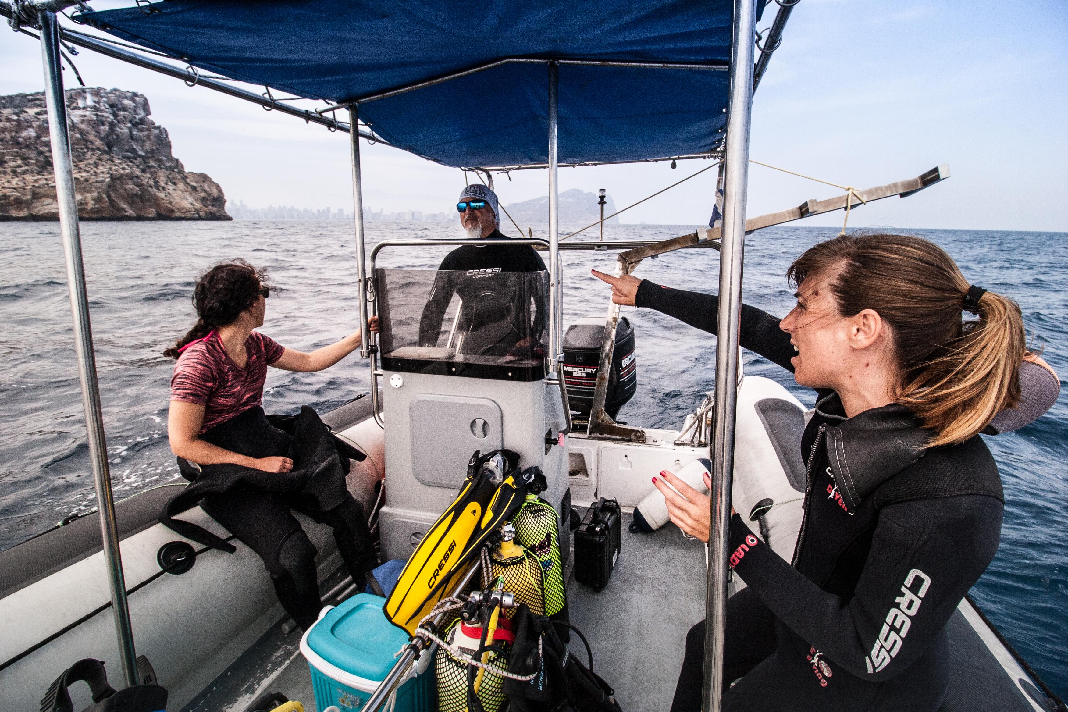 Spanish dive boat