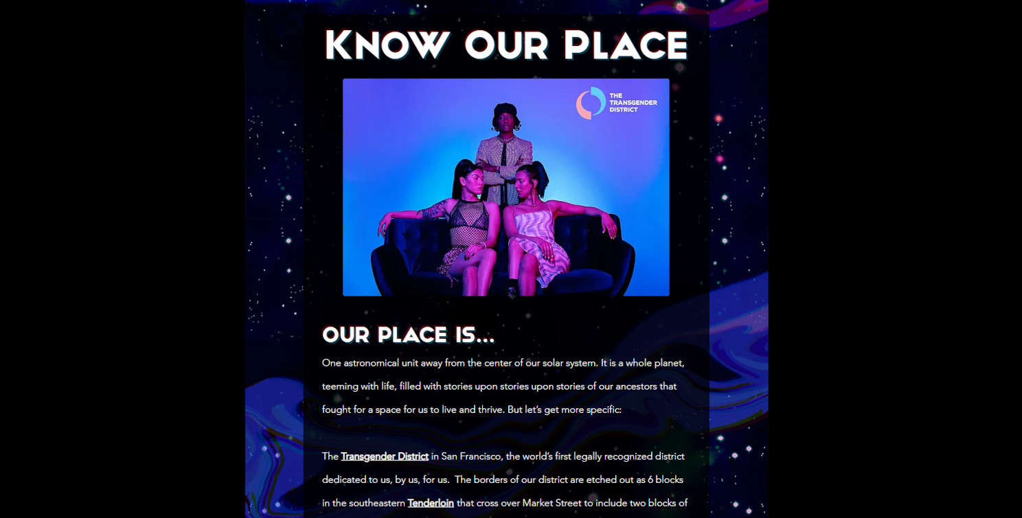 KnowOurPlace website by c.dubdesign