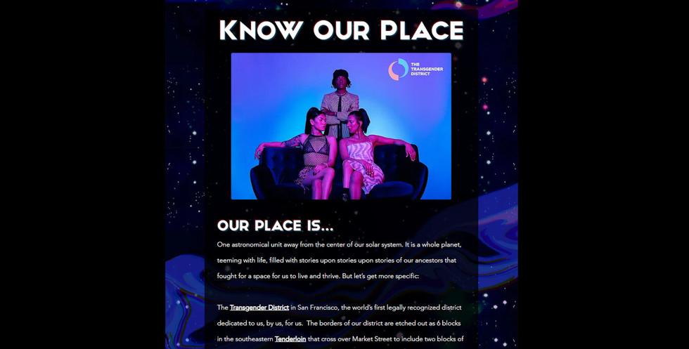 KnowOurPlace website by c.dubdesign