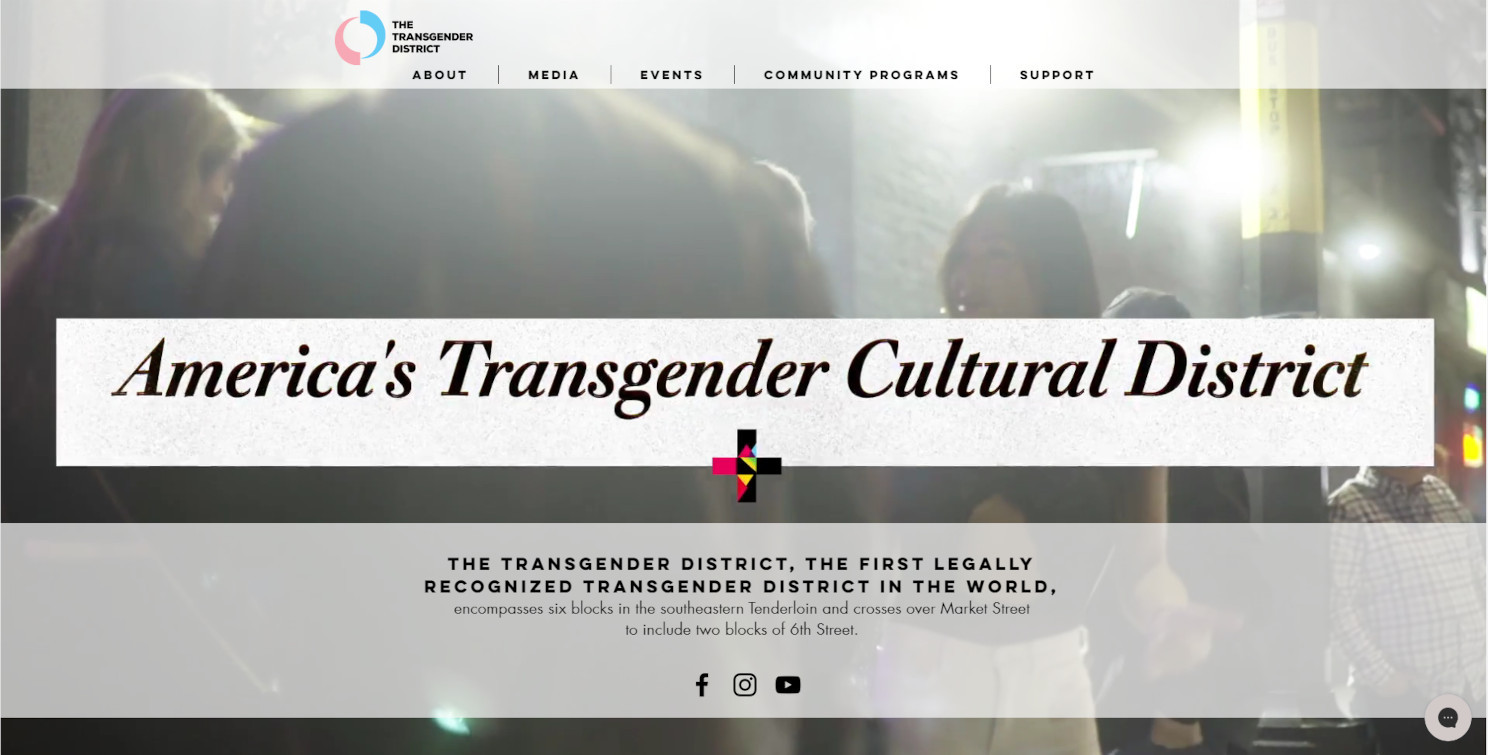 The Transgender District website by c.du