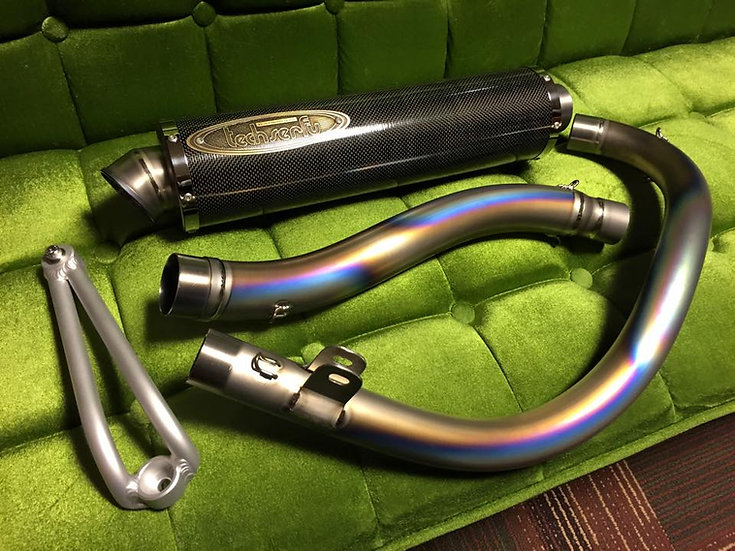 Green tea ultimate hand bent titanium pipe carbon silencer