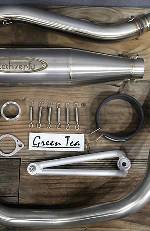 Green Tea evo Techtrapp conical solid exhaust BikuMono version