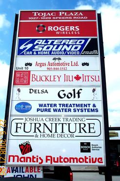 Outdoor Plaza Signage