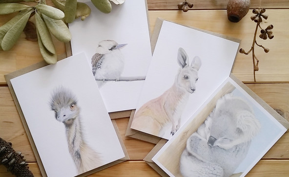 Set of 4 cards