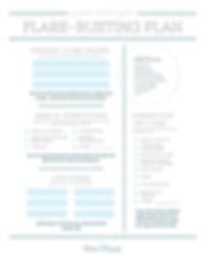 My IC Flare-Busting Plan -- printable ha