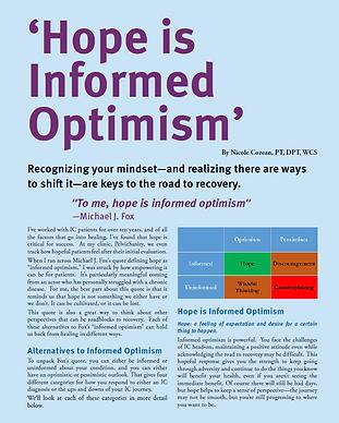 ICA Update Informed Optimism Nicole Coze