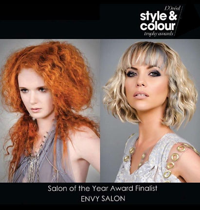 Award Winning Hairdressers, ENVY Salon,