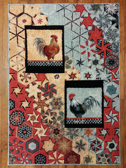 Roosters Hexified Panel