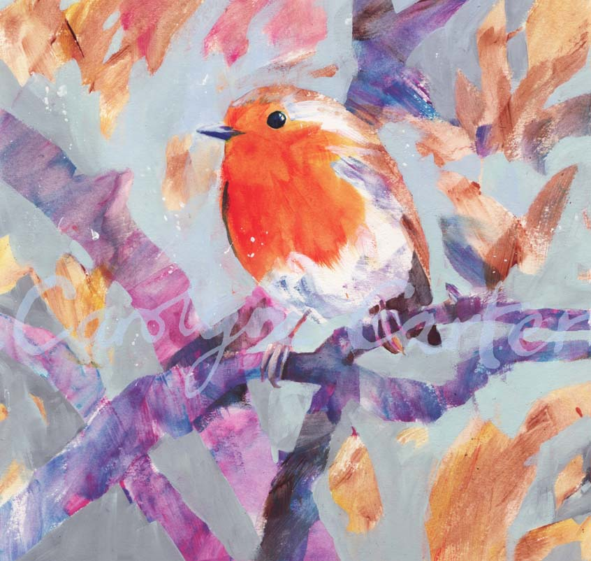 Winter Robin by Carolyn Carter