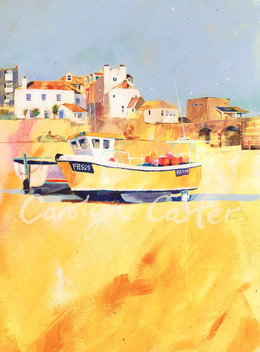 Yellow Boat St. Ives