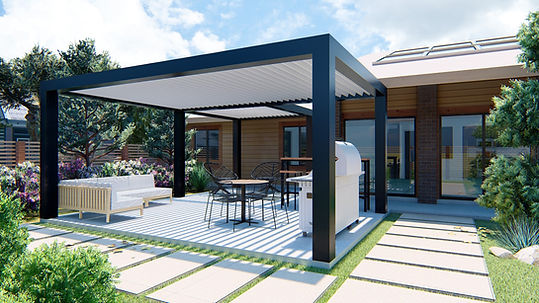 Patio Cover  - Louvered Roof