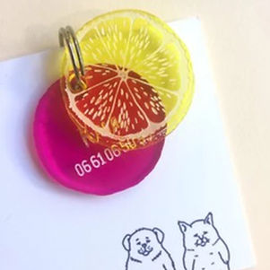 Médaillon citron rose