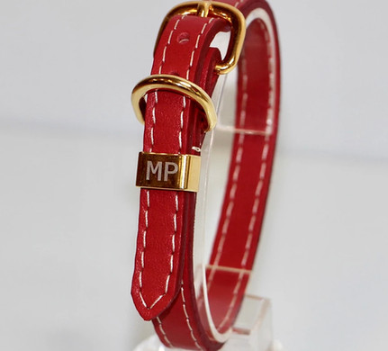 Collier sellier rouge