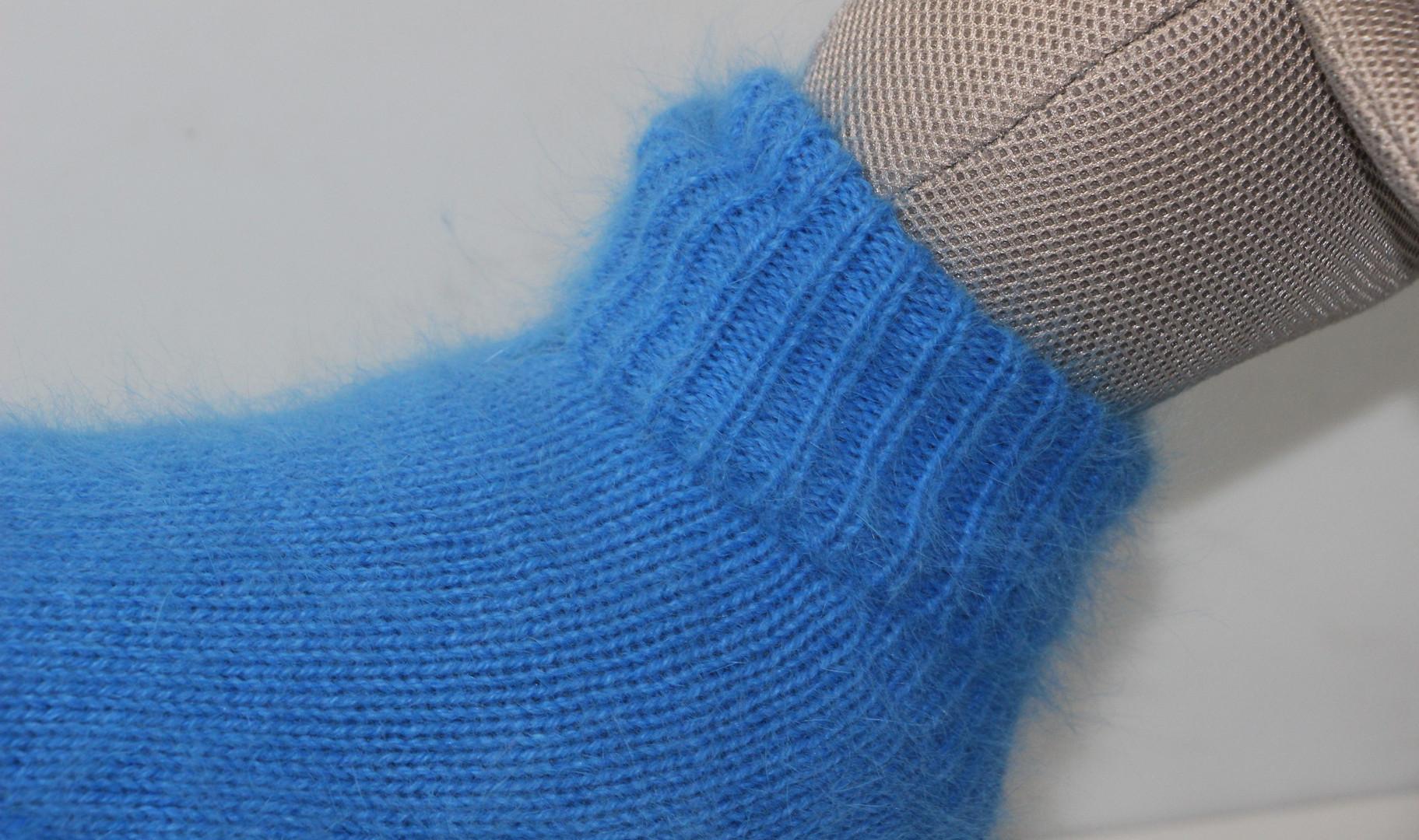 Pull Angora bleu