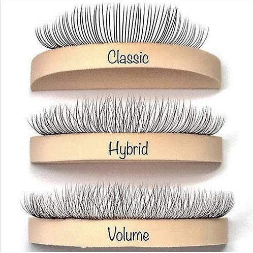 Classic/Volume/Hybrid Eyelash Extensions