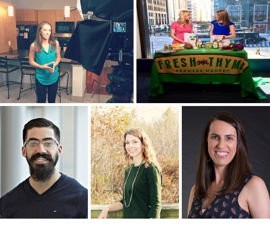 collage of photos showing registered dietitian nutritionists