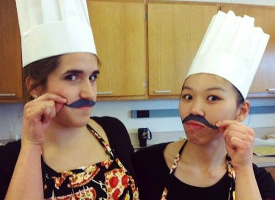 Nutrition Science students dressed up as chefs ready for a food demonstration