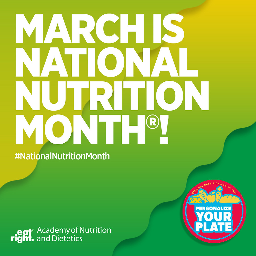 National Nutrition Month 2021 graphic