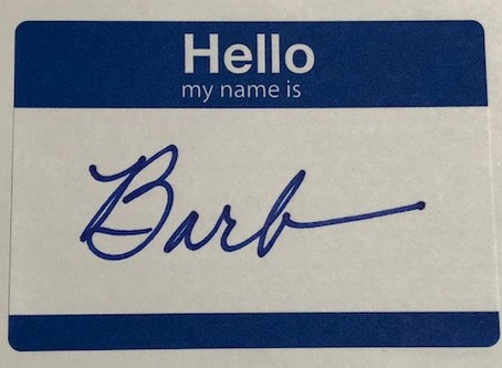Hello, my name is…