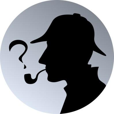 shadow profile of Sherlock Holmes