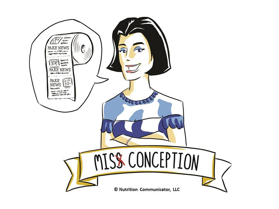 Miss Conception is a fictional character depicting misinformation, fake news, and falsehoods