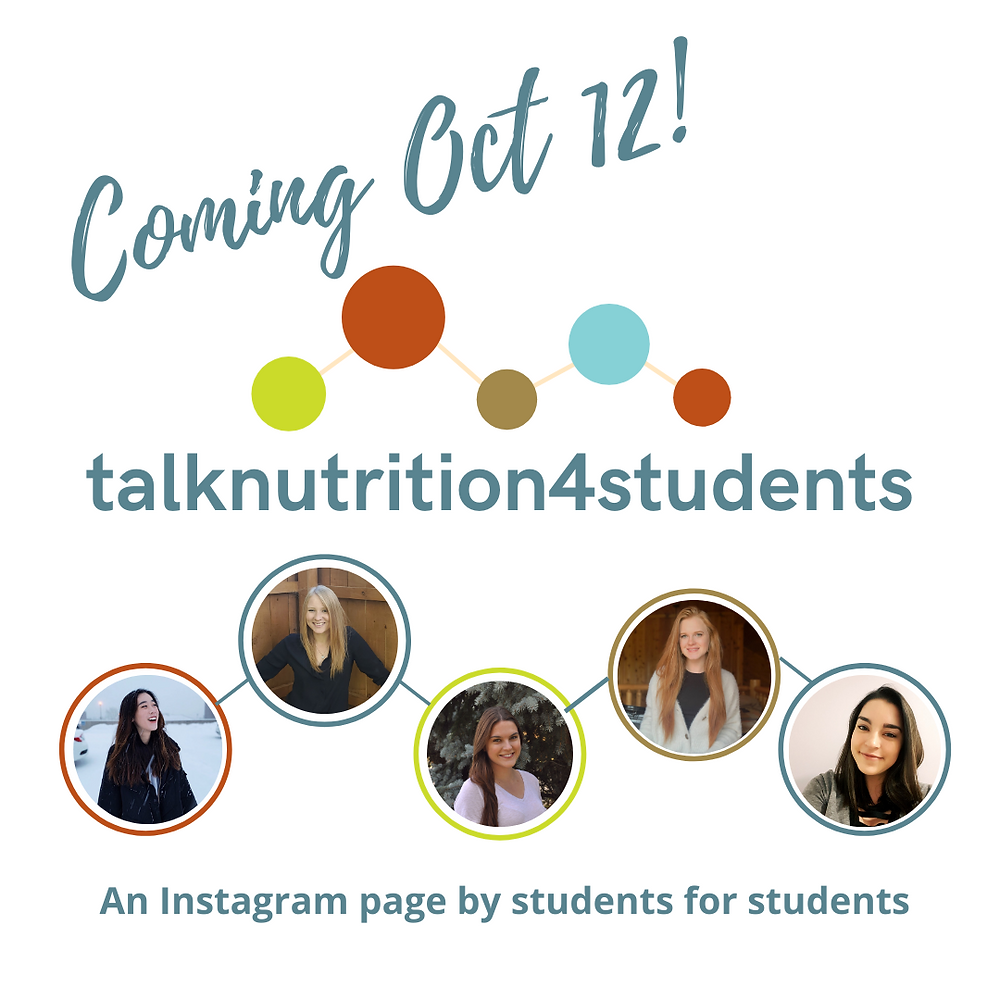 student team for talknutrition4students Instagram page