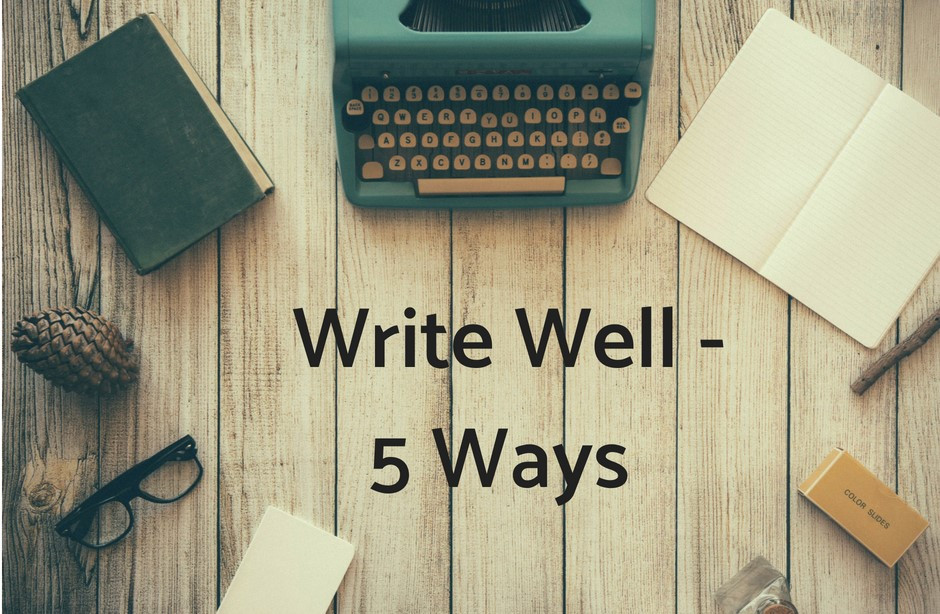 tools for writing well including journal and typewriter