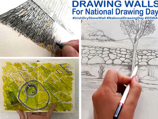 Drawing walls for National Drawing Day 2020: Your Walls