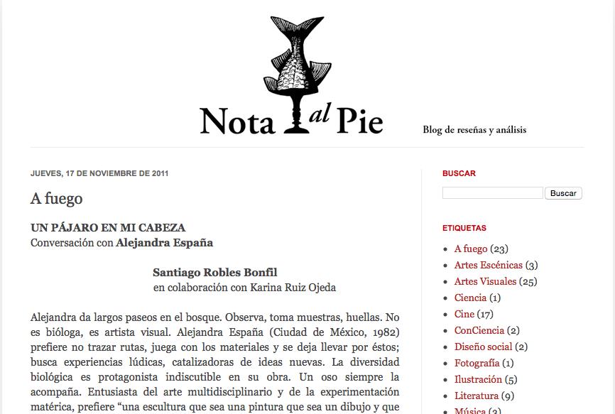 Nota al Pie