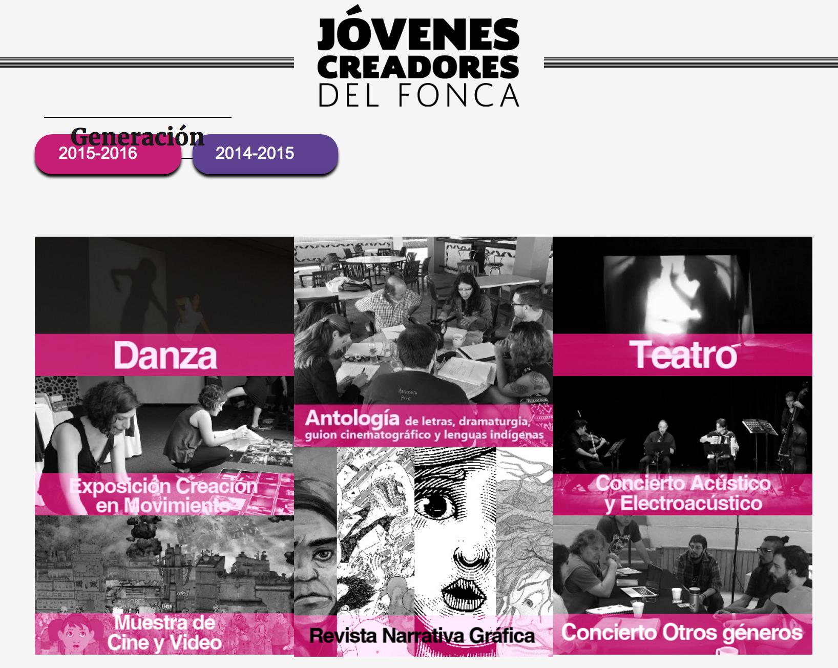 Jóvenes Creadores 2015-2016