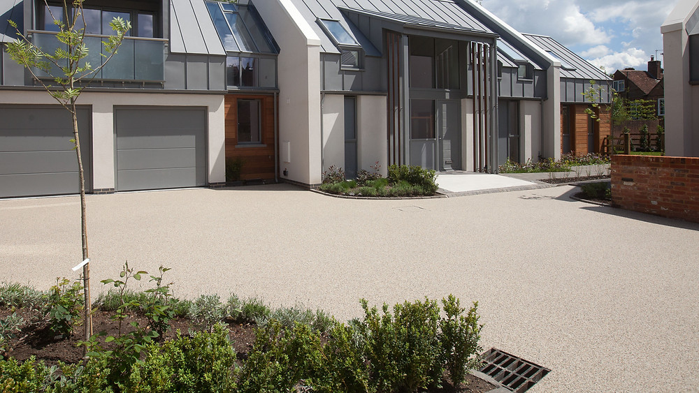 Sureset resin bound natural aggregate