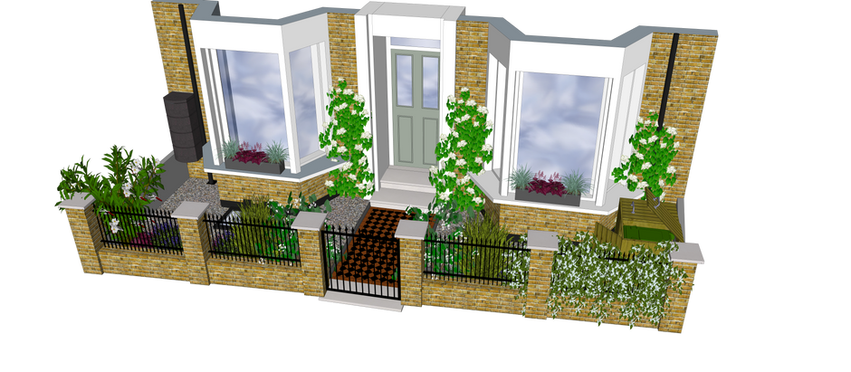 A timeless classic - my N16 Victorian Front Garden design