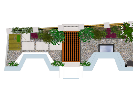 Designing small gardens - angular design and other tips