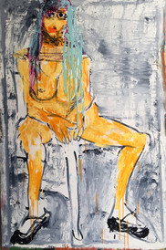 Woman IV, oil on canvas,  120cmx80cm