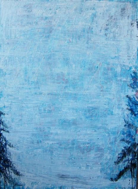 Pine tree II,  oil on canvas 180cmx120 cm