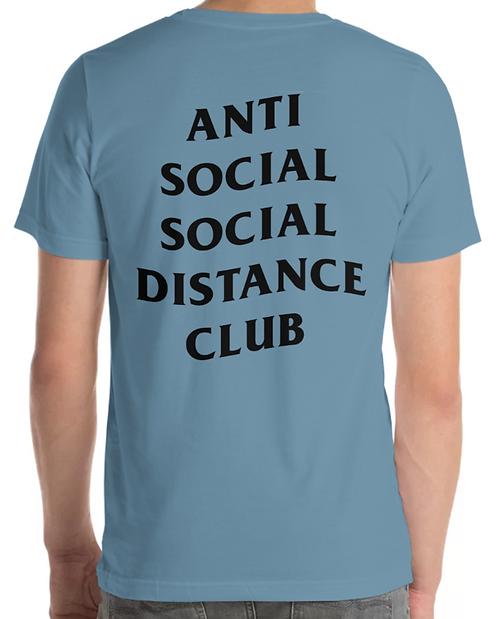 Social Distance Tee Indigo Blue/Black