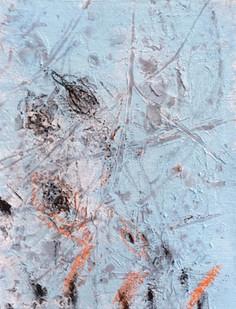 Bundanon Droppings IV pencil, charcoal & gouache on ribbed cotton, 43cmx32cm