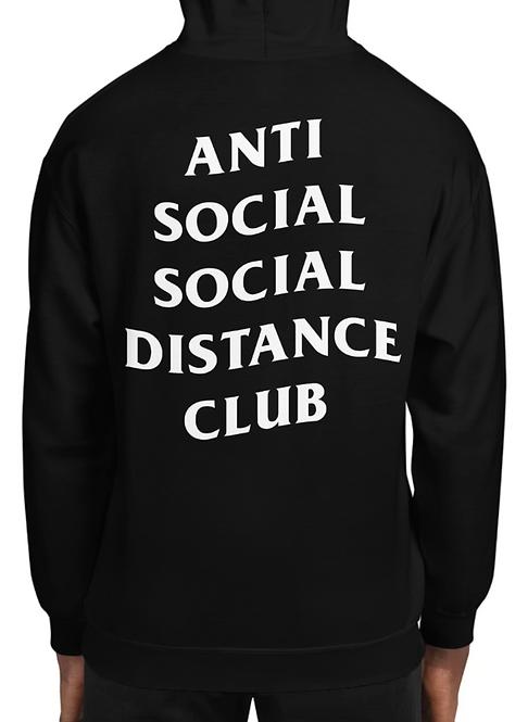 Social Distance Hoodie Black/White