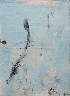 Bundanon Droppings I, pencil, charcoal & gouache on ribbed cotton 43cm x 32cm