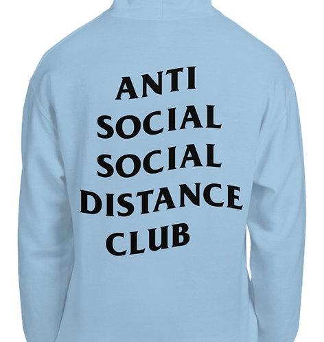 Social Distance Hoodie Baby Blue/Black