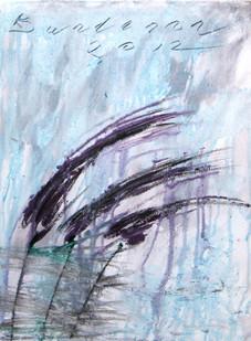 Purple fountain grass V, oil on canvas  40cmx30cm