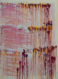 Stargardt's escarpment II,  oil on canvas 120cmx90cm