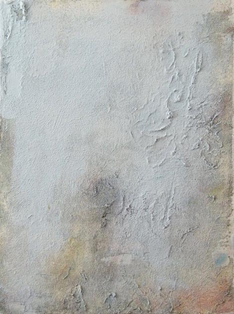 On the beach IV, oil and sand on canvas 40cmx30cm