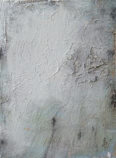 On the beach V, oil and sand on canvas 40cmx30cm