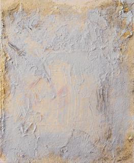 On the beach I, oil and sand on canvas 30cmx25cm