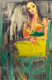 Woman VI, oil on canvas, 120cmx80cm